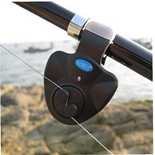 TOSSPER Pesca Mordedura Alarmas Portátil De Luz Led De Alarma De La Carpa Pesca Línea Engranaje Alerta Indicador Buffer Caña De Pescar Fuerte Alarma