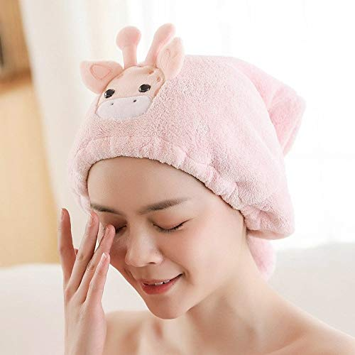 Dry hair cap female super absorbent water wiping head adult quick-drying towel thickening Bao headscarf cartoon shower cap cute dry hair towel