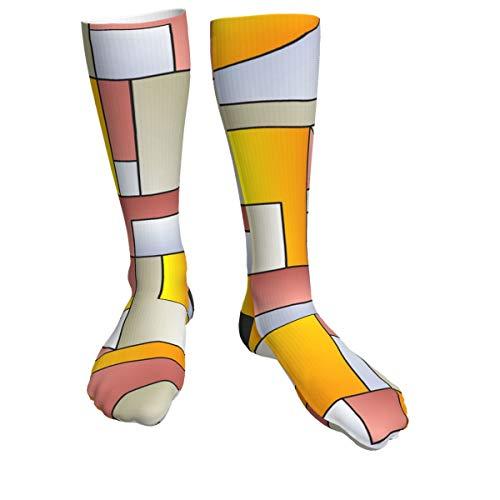 Patrón creativo con ojos atléticos calcetines para hombres y mujeres, calcetines gruesos para correr, vuelo, viajes, montañismo