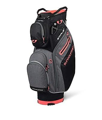 Sun Mountain 2021 Women's Starlet Golf Cart Bag (Black-Carbon-Dawn)