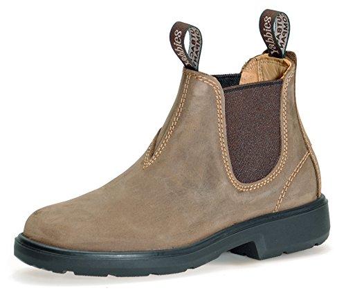 Yabbies Town & Country Chelsea Boots for Kids | Kinder Unisex Stiefelette aus Leder | Vintage/Braun | Gr. 3/35.5