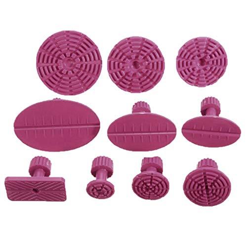 Alecony 10 STK Blau/Rot Dent Puller Tabs,Werkzeuge Auto Dent Remover Ausbeulen ohne Reparatur Kit,Auto Körper Paintless Dent Reparatur Werkzeuge Kleber Saugnäpfe (Rot)