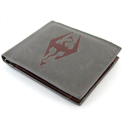 Skyrim - Dragonborn - Geldbeutel aus Kunstleder | Grau
