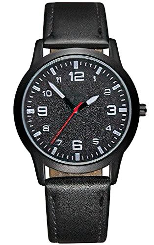 KDM Reloj Hombre Negro Ultra Fino para Hombre Minimalista Lujo Moda Relojes de Pulsera para Hombres Vestir Casual Impermeable Reloj de Cuarzo para Hombre