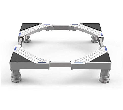 SEISSO Podeste & Rahmen für Waschmaschinen, Verstellbare Waschmaschine Sockel Untergestell Podest Waschmaschine Sockel Waschmaschine (44-69cm)
