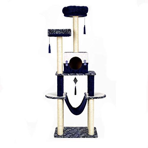 Wxxdlooa El Salto Doble Gato Columpio, Cubierta de una Sola Pieza Junta Cat Scratch Rascador Observatorio de la Hamaca del Gato (Size : 40.5 * 59.5 * 174cm)