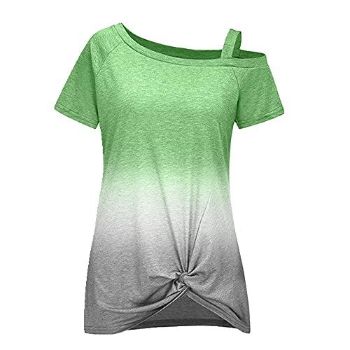 N\P Verano de manga corta señoras casual camiseta suelta casual señoras top t-shirt