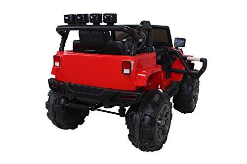 RC Auto kaufen Kinderauto Bild 6: Actionbikes Motors Kinder Elektroauto Offroad Jeep 2 x 35 Watt (Rot)*
