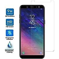 REY Protector de Pantalla para Samsung Galaxy A6 2018, Cristal Vidrio Templado Premium