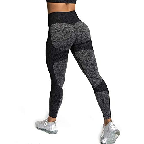 ShinyStar Women's Seamless High Waisted Yoga Leggings Stretch Gym Workout Running Leggings
