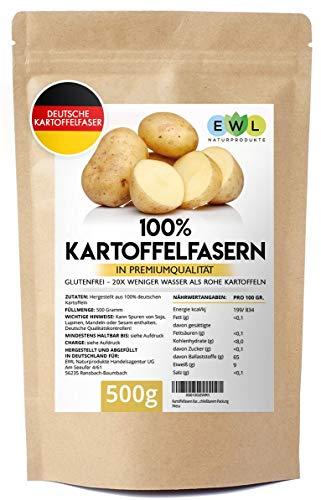 Kartoffelfasern Kartoffelmehl Kartoffelfasermehl I aus deutschen Kartoffeln I kontrolliert und abgefüllt in Deutschland I Kartoffelfaser 500g
