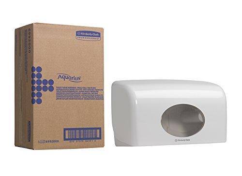 Aquarius 6992 Toilettenpapierspender für zwei Kleinrollen, 18 cm (L) x 29,8 cm (B) x 12,8 cm (T), 1 x 1 Spender, weiß