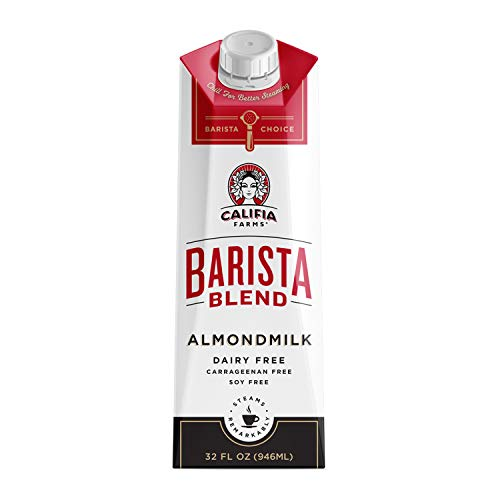 Califia Farms - Almond Milk, Original Barista Blend, 32 Oz (Pack of 6) | Shelf Stable | Non Dairy | Nut Milk | Creamer | Plant Based | Vegan | Non-GMO