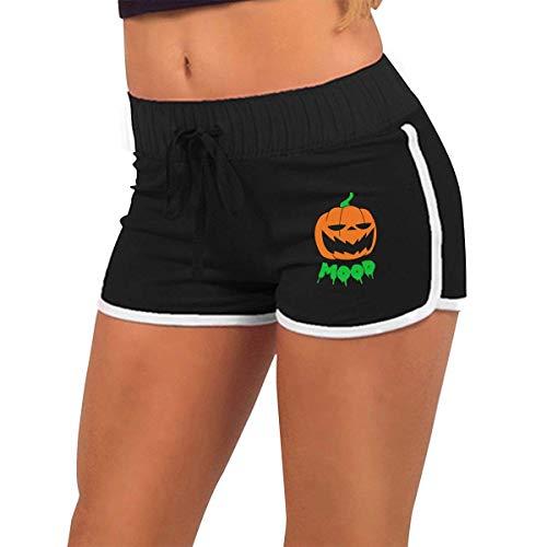 Longing-Summer Alluringy Mini pantalones cortos para mujer, para Halloween, divertido, diseo de linterna, disfraz de baile bajo arroz
