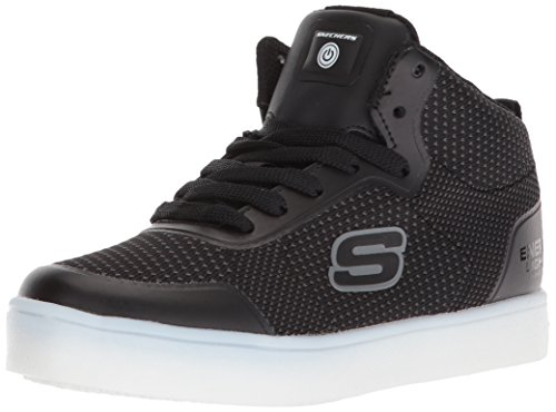 Skechers Jungen Energy Lights-Halation Hohe Sneaker, Schwarz (Black Blk), 33 EU