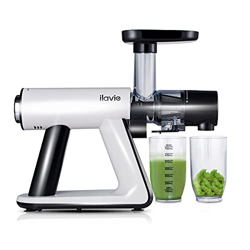 ILAVIE Slow Masticating Juicer Machine for Celery, Wheatgrass, Kale, Beet BPA-Free Slow Juicer Extractor Cold Press for Fruit and Vegetable Easy to Clean