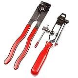 DFYYQ Clips Tipo de cable Abrazaderas + Conjunto de arranque de la herramienta de instalación de la abrazadera Set Auto Herramientas de reparación de reparación de neumáticos abrazadera La eliminación