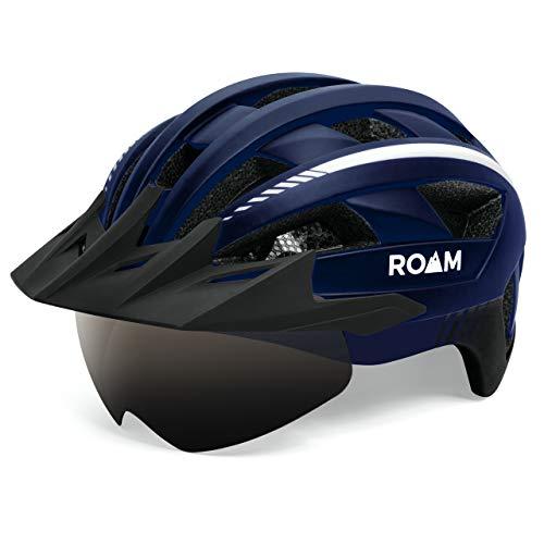 Adult Bike Helmet Visor Bright LED Light Bicycle Helmet Men Women Road Mountain