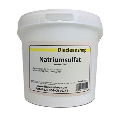 Glaubersalz 5kg Natriumsulfat E514 Na2SO4 wasserfrei Pharmaqualität