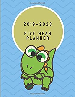 2019-2023 Five Year Planner: Dinosaur Themed Weekly Diary