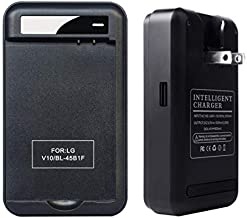 Lrker LG V10 Specialized Battery Charger Specialized Intelligent Portable USB Travel Wall Charger for LG V10 Phone Spare Battery - Battery is Not Included (1 Charger)