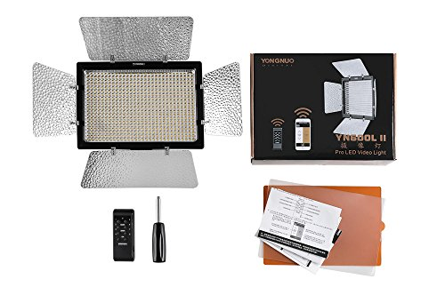Yongnuo YN600L II - Lámpara LED para iluminación fotográfica (55°, 600 LED, 36W), Color Negro