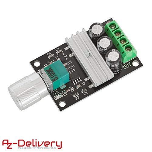 AZDelivery Drehzahlregler PWM-Modul DC Motor Geschwindigkeit Schalter für Arduino