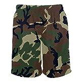 Eslifey Camouflage Woodland Texture Sommer Beach Shorts Herren Badeshorts Boardshort für Mann L Gr. XL, Multi