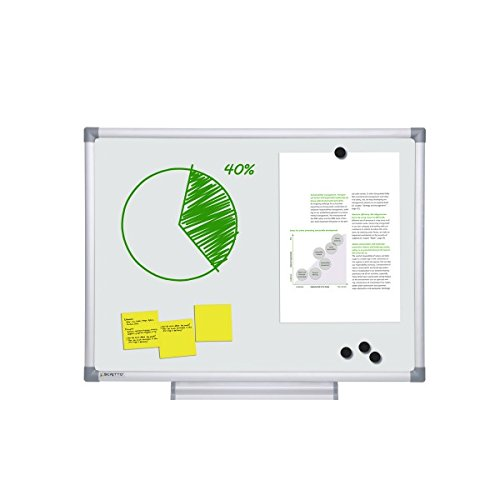 UNIPOS® Emaille Whiteboard 90x180 ZILVER