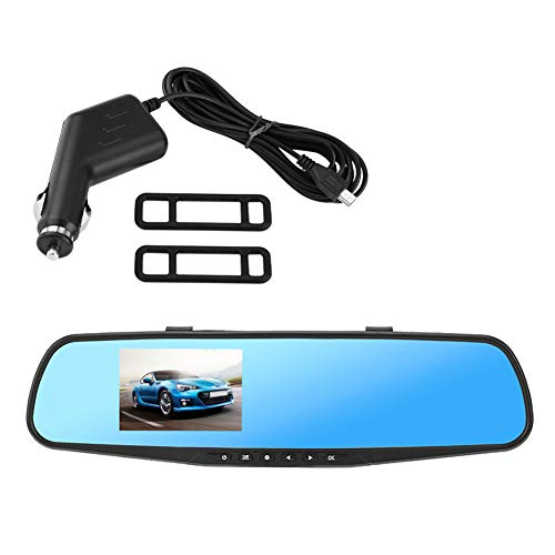Kimiss Dash Cam HD Auto DVR achteruitkijkspiegel camera 1080p rijden Video Recorder 120 ° Wide Angel met 2,8 inch LCD, G-Sense, loop opname, bewegingsdetectie, Ultra Thin