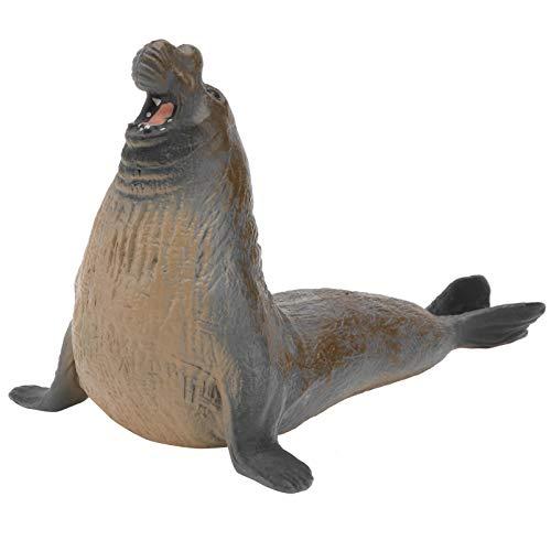 Toddmomy Modelo de elefante para niños, juguete de foca realista, animales marinos, figuras de Sealife, juguete educativo (marrón claro)