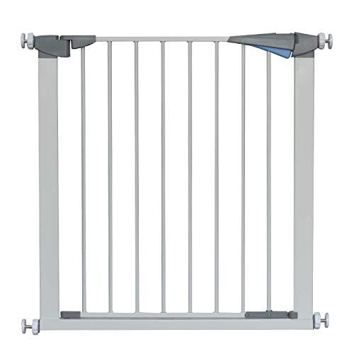 LEMKA Türschutzgitter für Kinder, für Hunde und Katzen, Befestigung ohne Bohren, Treppen,zum Klemmen 79-83 cm Wide 76 cm High(Metallfarbe)