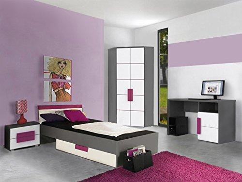 Jugendzimmer Libelle Komplett Verschiedene Ausführungen Kinderzimmer Möbel (Jugendzimmer Libelle 5tlg mit Eckkleiderschrank)