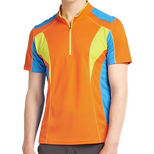 Ogeenier A Collo Alto Maglia Uomo Manica Lunga Maglietta Ciclismo Running Protezione Solare 50 Felpe con Cappuccio