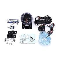 60MM 12V車ターボブースト計2 BAR +アジャスタブルターボ・ブーストコントローラーキットをセンサー照明YC101411 (Color : With blue Controll)