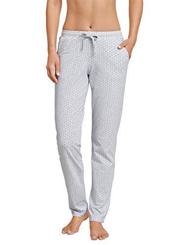 Schiesser Damen Mix & Relax Jerseyhose lang Schlafanzughose, Grau (Grau-Mel. 202), 38 (Herstellergröße: 038)