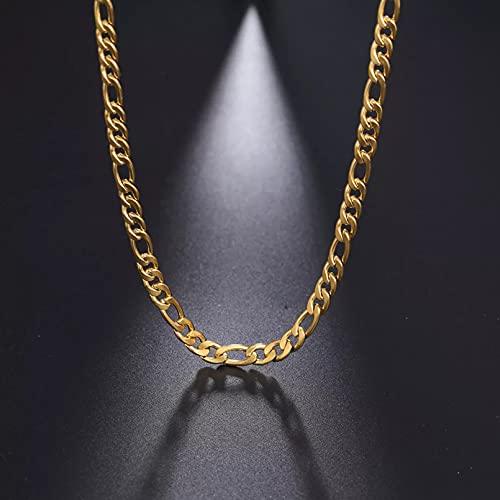 Moda Collar Joyas Gargantilla Collares de cadena de eslabones anchos irregulares para mujer, collar de acero inoxidable de color dorado, gargantilla, accesorios de joyería de moda DIY Parejas Regalos