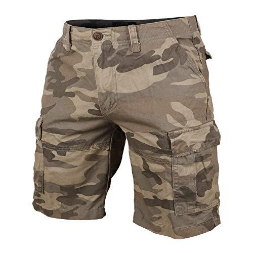 Muscle Alive Hombres Shorts Cargo Cámping Excursionismo Camuflaje Vendimia 100% algodón Pantalones...