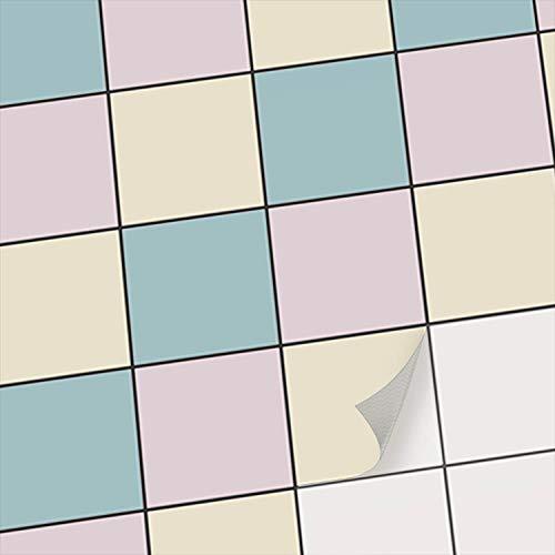 Sticker-Fliesen - Selbstklebende Fliesenfolie I Deko Badezimmer - Dekorfolie zur Badgestaltung und Küchen Wandfliesen renovieren - Fliesen überkleben I 10x10 cm - Motiv Samtfarben - 54 Stück