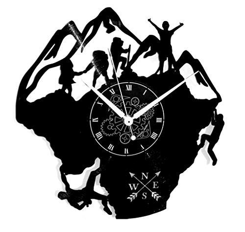 Instant Karma Clocks Orologio da Parete Natura Bosco Montagna Climbing Scalata, Vinile, Vintage, Handmade