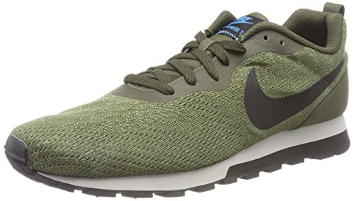 Nike Herren Md Runner 2 Eng Mesh Gymnastikschuhe, Grün (Cargo Khakiblacklt Blue Fury 301), 45 EU
