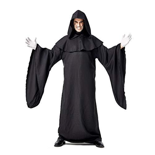 Amcool 2019 Herren Halloween Winter/Herbst Gotisch Lose Umhang mit Kapuze Mantel Langarm Einfarbig Poncho Kap Outwear Long Cosplay Kostüm Jacke