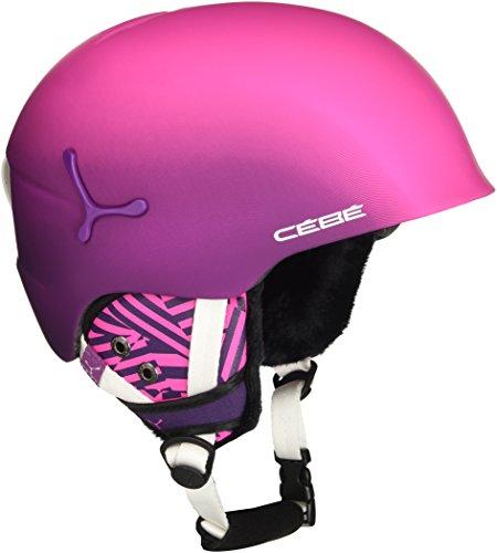 Cébé Suspense Deluxe Cascos de ski, Mujer, Matte Pink Zebra, Extra Small 51-53 cm