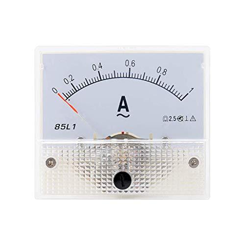 ZHOUMO 1-50A 85L1 AC Panel Meter Amperemeter Analog Panel Amperemeter Zifferblatt Stromanzeige Zeiger Amperemeter (1A)