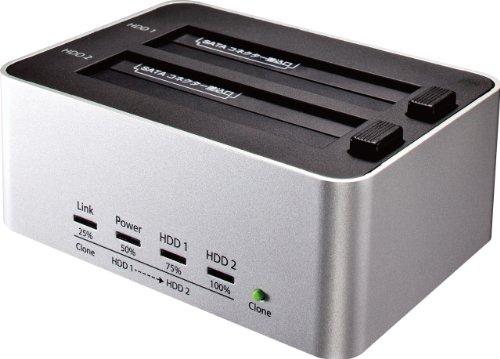 玄人志向 SSD/HDDスタンド 2.5型&3.5型対応 USB3.0接続 PCレスでボタン1つ、HDDまるごとコピー可能 KURO-DA...