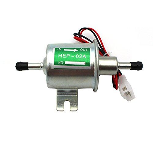 Raogoodcx Universal 12V Niederdruck Gas Benzin & Diesel Inline Elektrische Kraftstoffpumpe (Modell: HEP-02A)