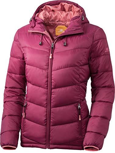 Nordcap Damen Jacke in Daunenoptik, warme Steppjacke in Beere, tolle Übergangs- & Winterjacke, 100% Wattierung (Gr: 36-50)