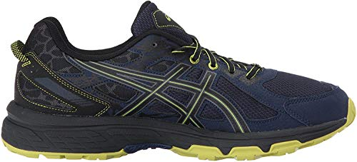 ASICS Men's Gel-Venture 6 Running Shoe, Indigo Blue/Black/Energy Green, 10.5 4E US