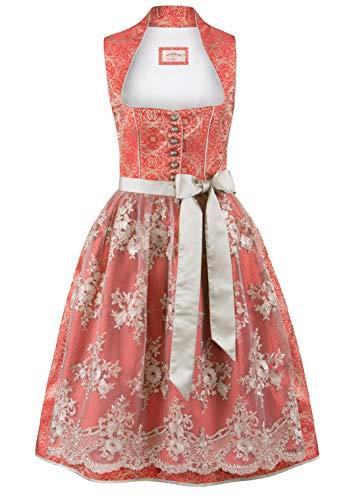 Stockerpoint Damen Dirndl Odina Kleid für besondere Anlässe, rot, 44