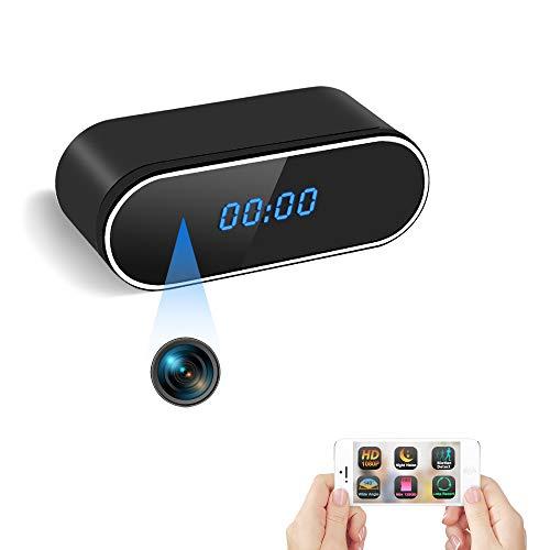 Cámara Espía Oculta WiFi Reloj Espía TANGMI 1080P HD Cámara de Niñera Inalámbrica Grabadora de Vídeo Detección de Movimiento Visión Nocturna Seguridad de Casa 140° Ángulo